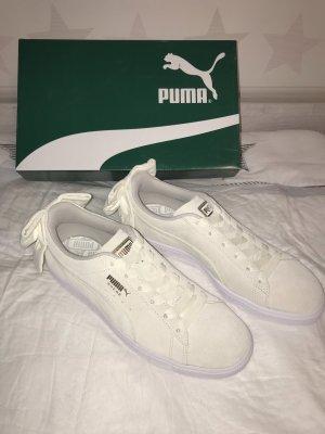 NEUE Puma Sneaker Gr.41 weiß Suede Bow Uprising Sneakers Low