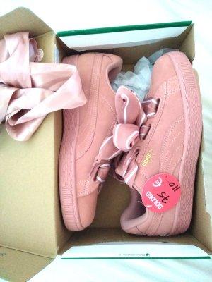 NEUE Puma Suede Heart 2 Sneaker Rosa Braun