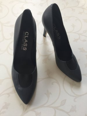 Class International Tacones altos gris oscuro Cuero