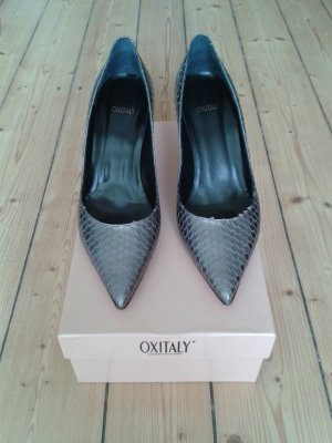 Oxitaly Pointed Toe Pumps multicolored leather