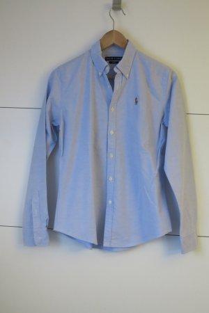 Neue Ralph Lauren Oxford Bluse Slim Fit hellblau Gr.6