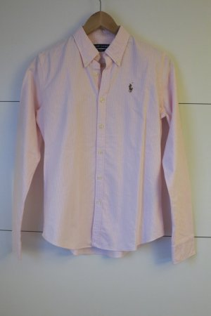 Neue Ralph Lauren Oxford Bluse Slim Fit rosa gestreift Gr.6