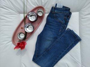 Mango Tube jeans blauw