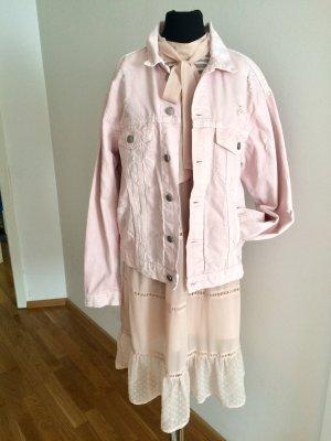 Neue, rosa Jeansjacke von Zara