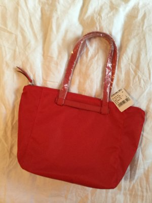 Neue rote Handtasche von Bree im Longchamp Stil