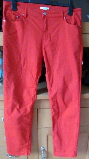H&M Jeans cigarette rouge
