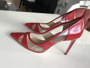Neue rote Zara Basic Pumps 38 Blogger ausverkauft