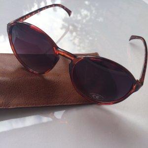 NEUE Runde Sonnenbrille mit violettem Verlauf, Leo Rahmen