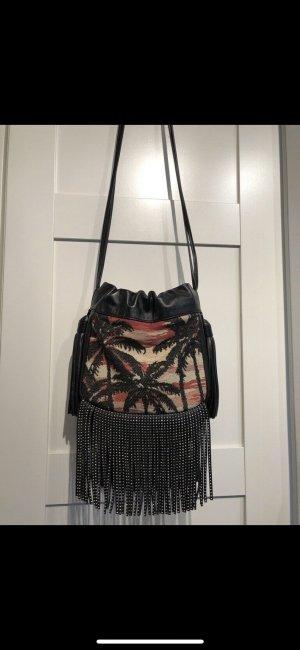 Saint Laurent Fringed Bag black leather