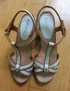 ara Strapped Sandals white-brown