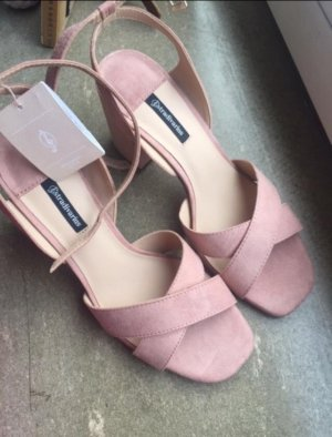 Stradivarius Strapped Sandals pink