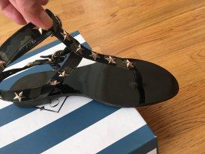 Sandalo con cinturino e tacco alto nero-verde