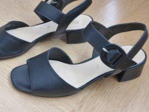 Gabor Sandalen met bandjes en hoge hakken zwart Leer