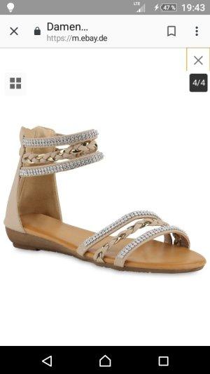 Sandales à talons hauts et lanière beige-chameau