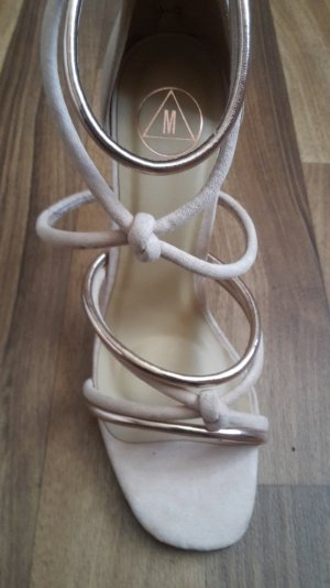 neue Sandaletten beige/Gold asos