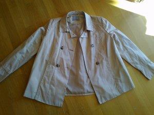 Neue sandfarbene Trench-Jacke in leicht ausgestellter A-Form, Gr. 40