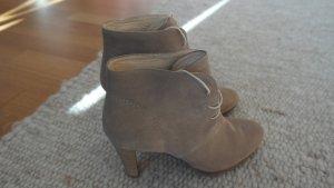 Boots beige-camel suede