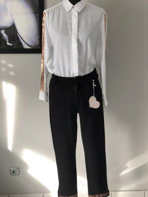 Pantalon de jogging noir-brun noir tissu mixte