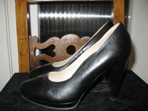 High Heels black leather