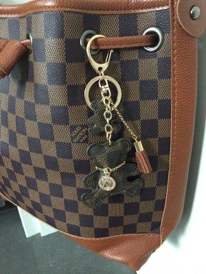 Porte-clés noir-crème