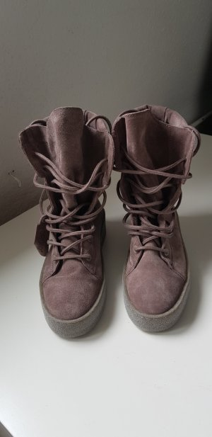 Bronx Lace-up Boots grey lilac-mauve