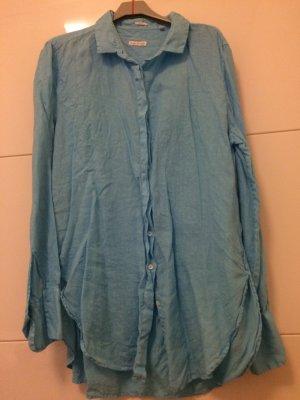Robert Friedman Linnen blouse turkoois