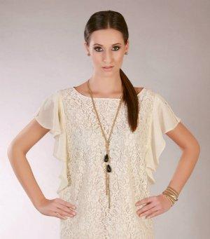 Neue, schöne einzelartige Kette  von exklusiver Modedesignerin in Goldoptik (Farbe: Gold und schwarz)