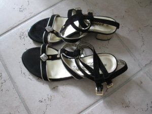 High Heel Sandal black-sand brown mixture fibre