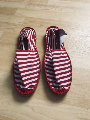 Ballerines pliables blanc-rouge
