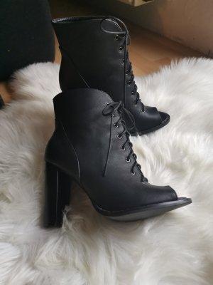 Neue Schuhe, Peep Toe, Schnüren, Größe 38, Blockabsatz, Just Fab, Blogger Schuhe