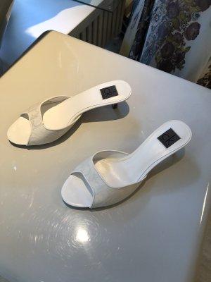 Calvin Klein Heel Pantolettes natural white