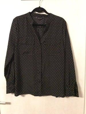 Neue schwarz weiß gepunktete Bluse von C&A