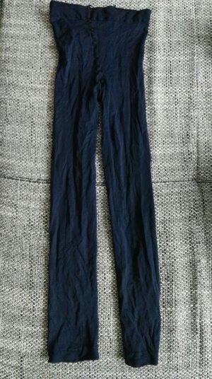 neue schwarzblaue dreiviertellange Leggins