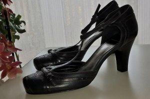 Esprit Zapatos de tacón con barra en T azul oscuro-rojo oscuro