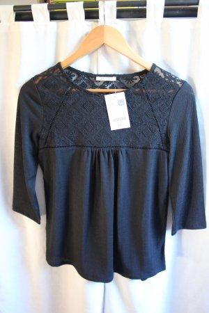 neue schwarze Bluse mit Spitze