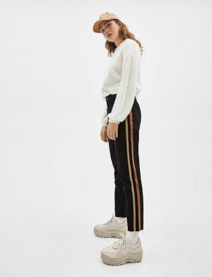 Neue schwarze Highwaist mom jeans hose stripped streifen Musthave Blogger
