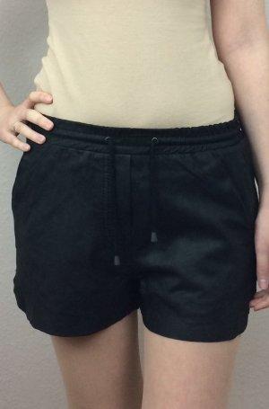 Neue schwarze Ledershorts Hotpants von Only