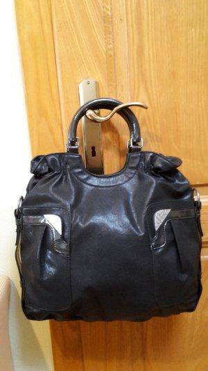 NEUE schwarze MISS SIXTY Handtasche in Glattleder-Imitat