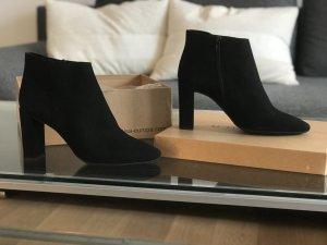Neue schwarze Rauleder Stiefeletten