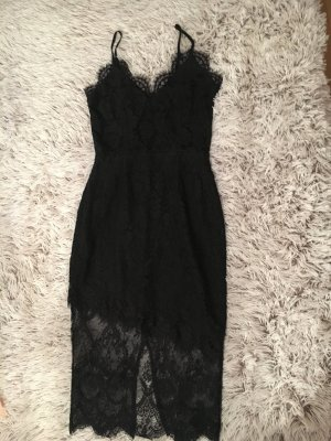 Neue Schwarze Spitzen Kleid