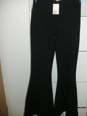 H&M Pantalón de campana negro Poliéster