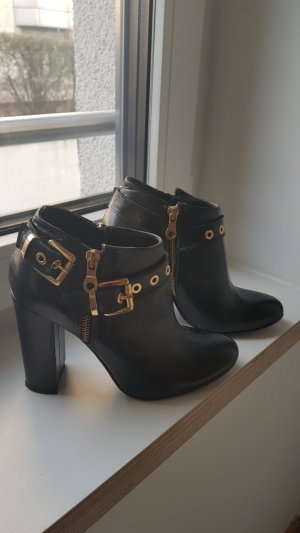 Neue Schwarzleder Mai Piú Senza Stiefel - Größe 37