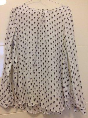 Neue Seidenbluse von Barbara Becker. Die Bluse ist beige mit lauter Katzenmotiven in braun. Größe 40