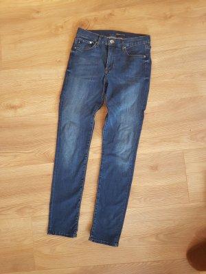 H&M Jeans skinny bleu acier
