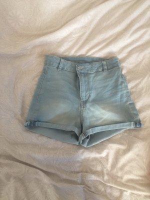 H&M High-Waist-Shorts blue
