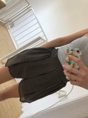 Zara Pantalón corto de talle alto marrón claro-negro