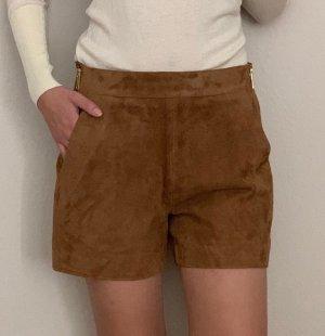 Neue Shorts Hotpants Leder Wildleder Veloursleder
