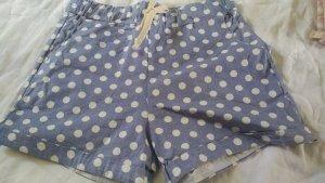 neue shorts mit punkten blau