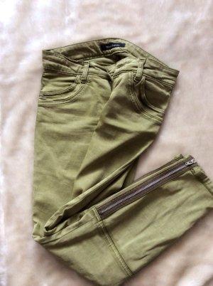 NEUE Skinny Jeans mit Reißverschluss am Bein in Oliv, Gr 27, Marc O'Polo