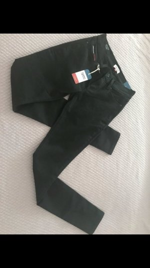 Tommy Hilfiger Denim Drainpipe Trousers black spandex